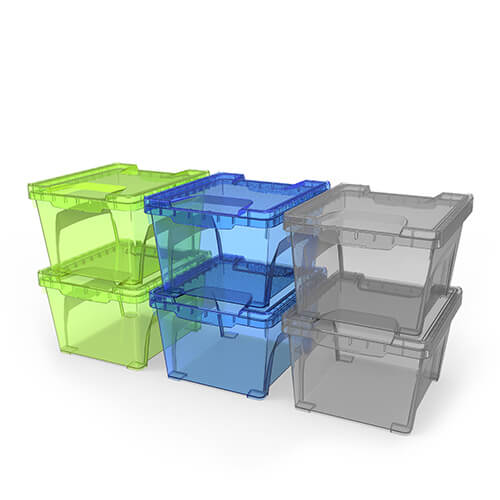 3 6l 3 8 qt large coloured square container 2pk ezy storage for Decor 6l container