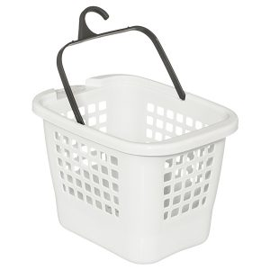 peg basket white
