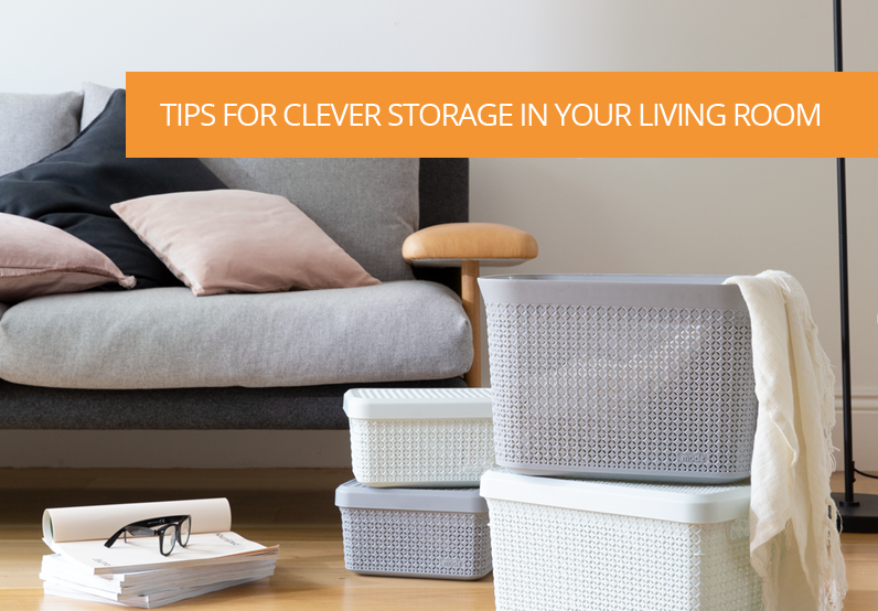 3 Steps to Follow for Clever Storage Solutions in your Living room