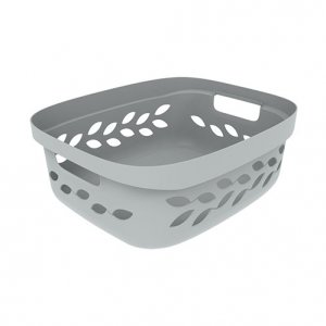 11L Leaf Open Basket_GREY copy