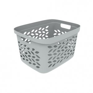 26L Leaf Open Basket_GREY copy