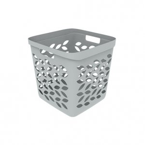 28L Leaf 13'' Cube Open Basket_GREY copy
