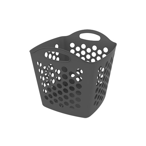 37.5L Square Basket Laundry Flexi_GREY copy