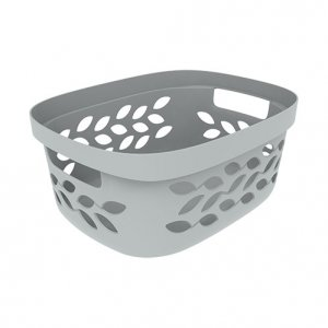 4L Leaf Open Basket_GREY copy