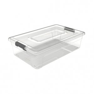 5.6L Sort It_9 Shallow Cups + Insert Tray_No Cups or Tray_CLEAR copy