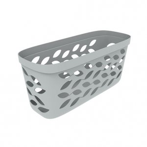 5L Leaf Long Open Basket_GREY copy