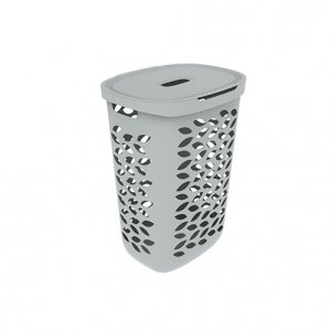 62.5L Leaf Laundry Hamper_GREY copy