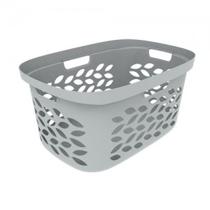 63L (2Bu) Leaf Heaped Laundry Basket_GREY copy